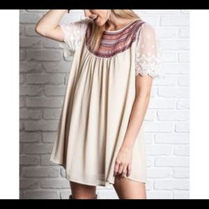 Umgee Taupe Tunic Dress